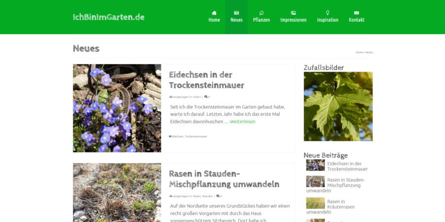 ichbinimgarten.de - Garten Website
