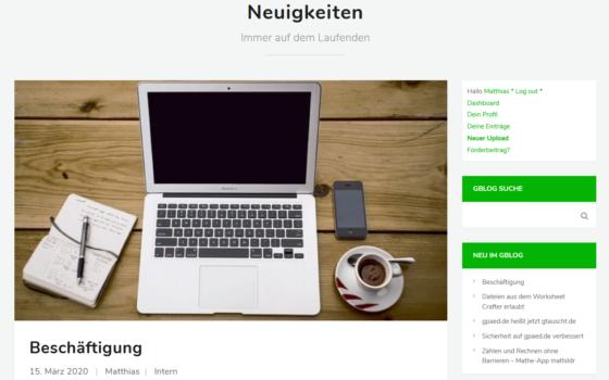 gblog - Newsportal für Sonderpädagogen