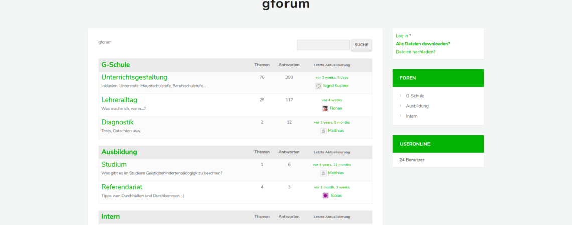 gforum - Forum für Sonderpädagogen